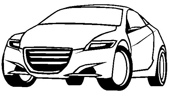 honda crz coloring page