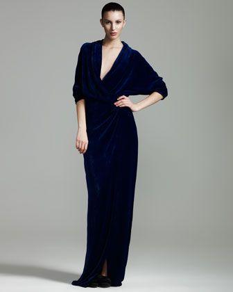 Velvet Wrap Gown by Lanvin