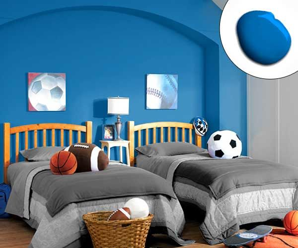 remarkable boys bedroom colors | Color of the Month, August 2014: Bright Cobalt | Bedroom ...