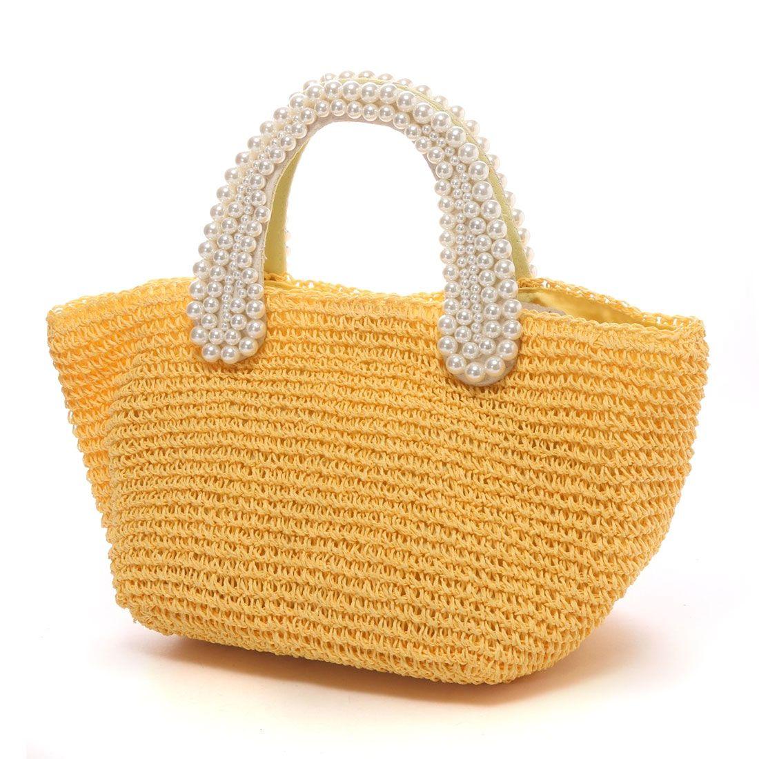 cache cache pearl handle crochet bag