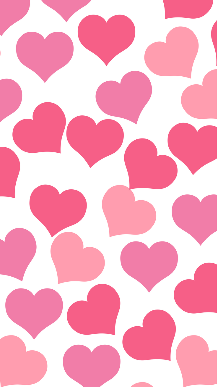 Happy Valentine's Day iPhone Wallpaper Collection Pink