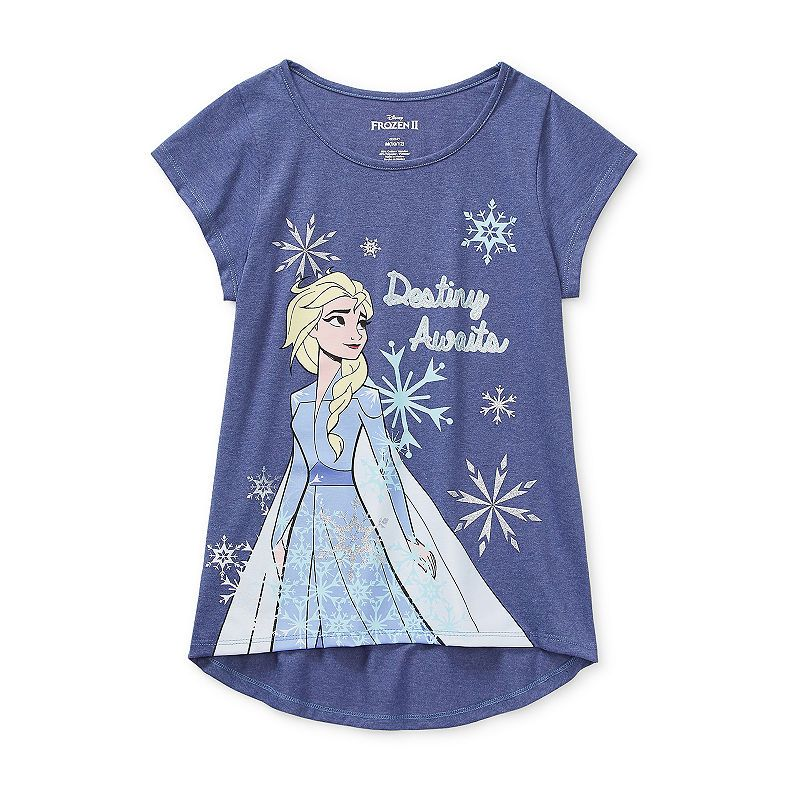Disney Little & Big Girls Round Neck Frozen Short Sleeve Graphic T-Shirt, Color: Purple - JCPenney