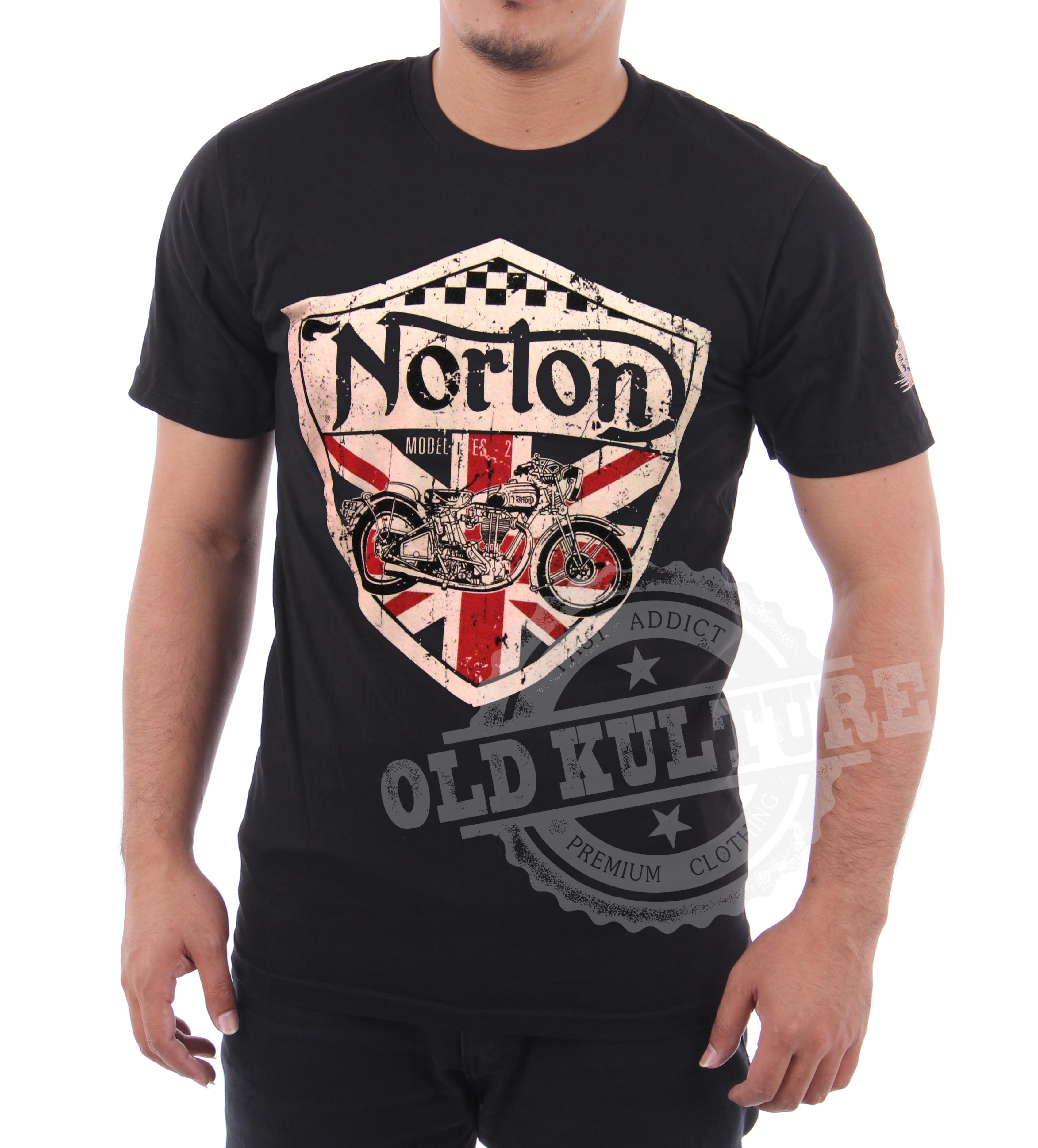 cafe racer norton motorcycle t shirt available now hot. Black Bedroom Furniture Sets. Home Design Ideas