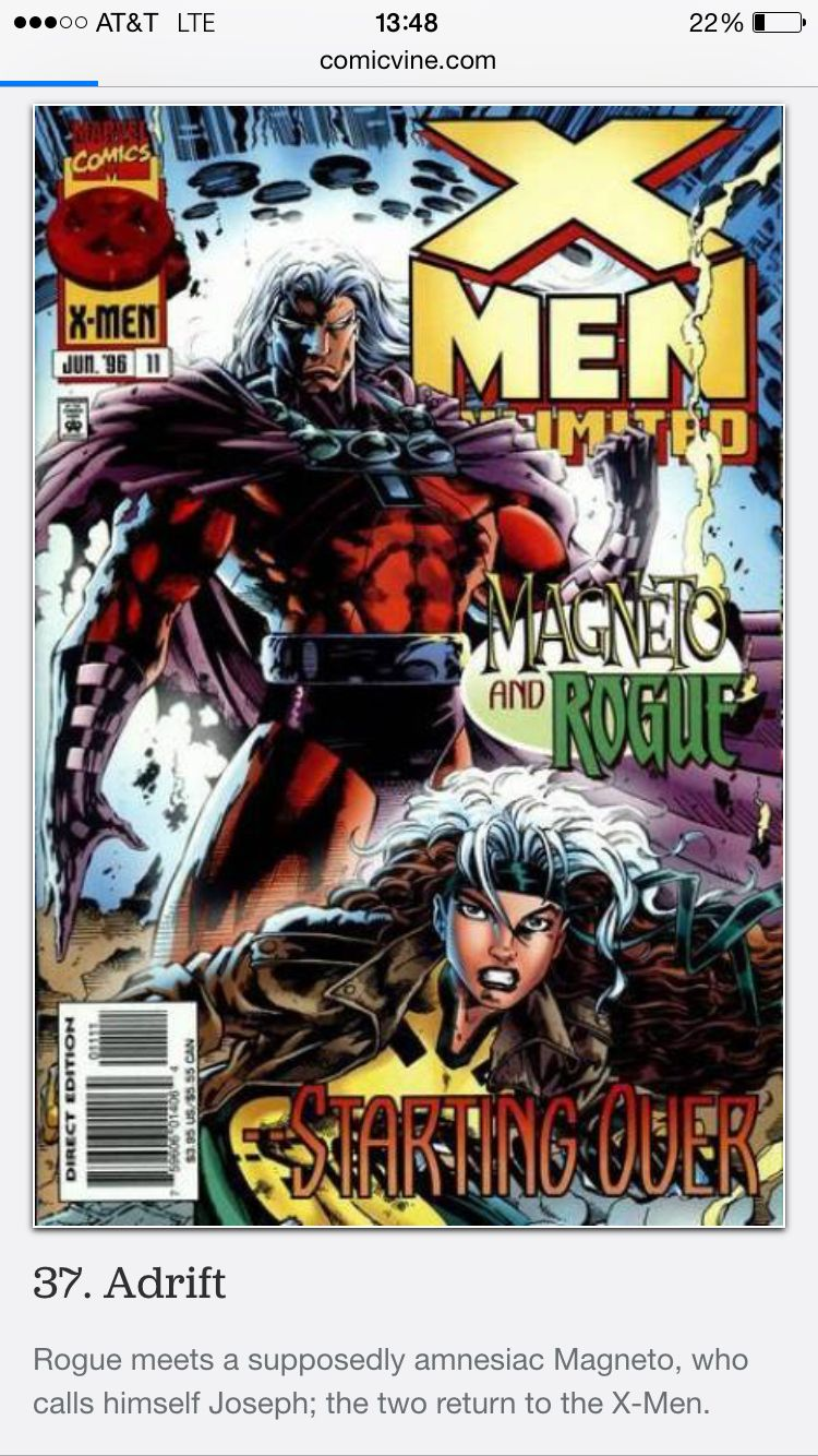 X Men Unlimited 11 Magneto Has Amnesia 2 Return To X Men Marvel Herois Desenhos