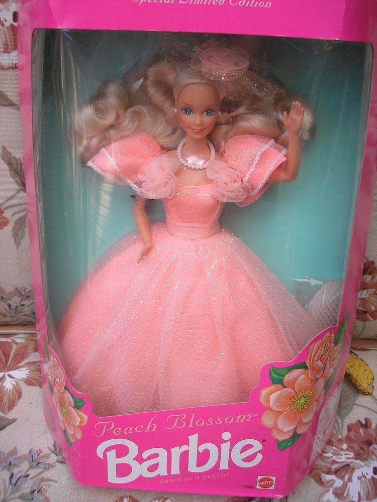 Vintage 1992 Mattel Peach Blossom Barbie Doll 7009 Nrfb Barbie