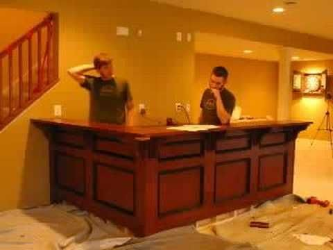 Superbe Bar Install (With Cabinets And Soundtrack)   YouTube