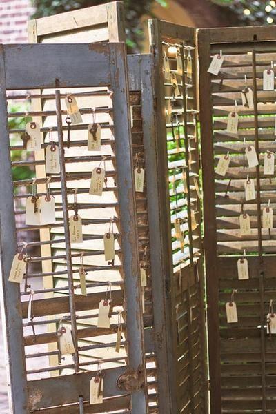 Plan De Table Paravent Bois Vintage Kraft Tag Plan De Table Mariage Plan De Table Idees De Mariage