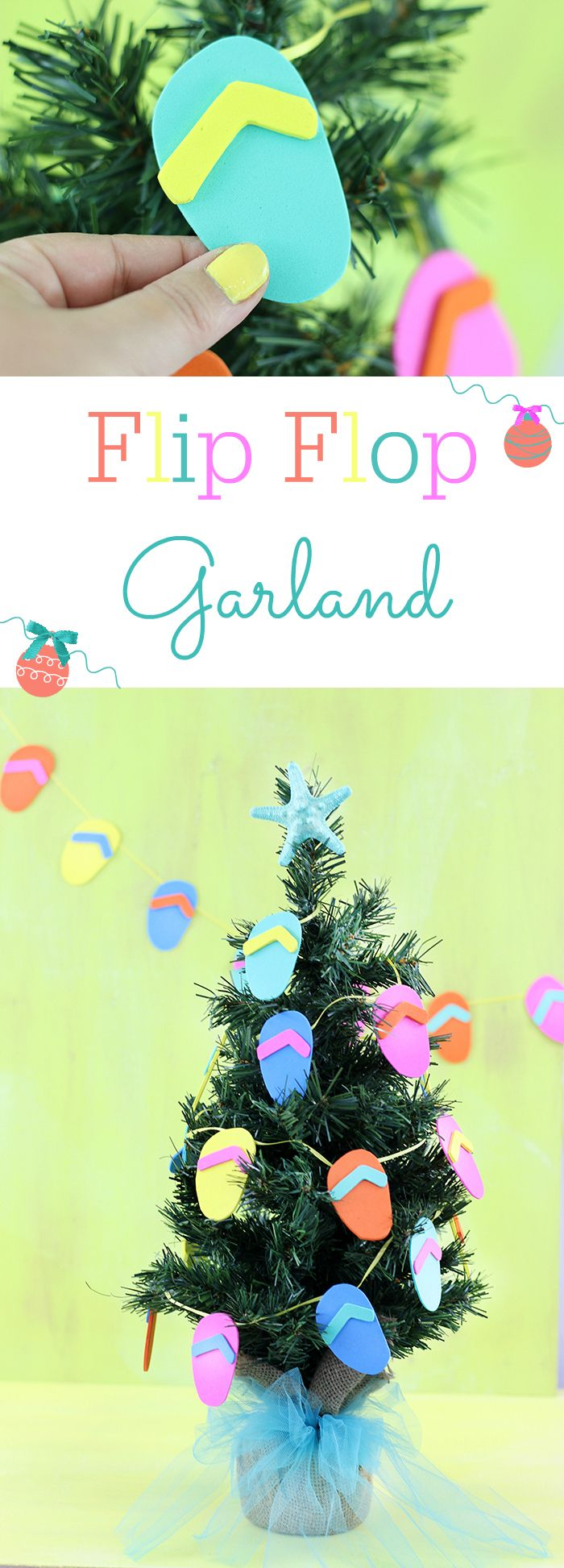 Christmas In July Craft Ideas Part - 27: DIY Flip Flop Garland. July CraftsSummer ...