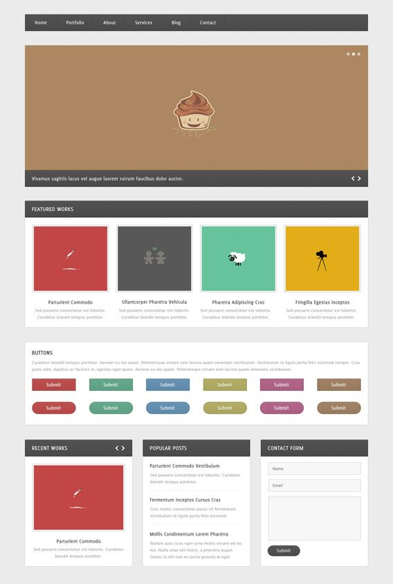 Web Elements Psd Web Design Tools Web Template Design Web Design Resources