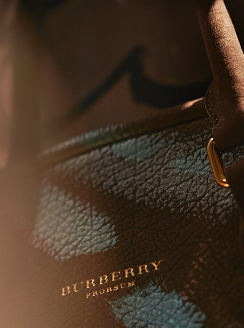 A close-up of the new Burberry runway bag - unveiled tomorrow at 2pm London time