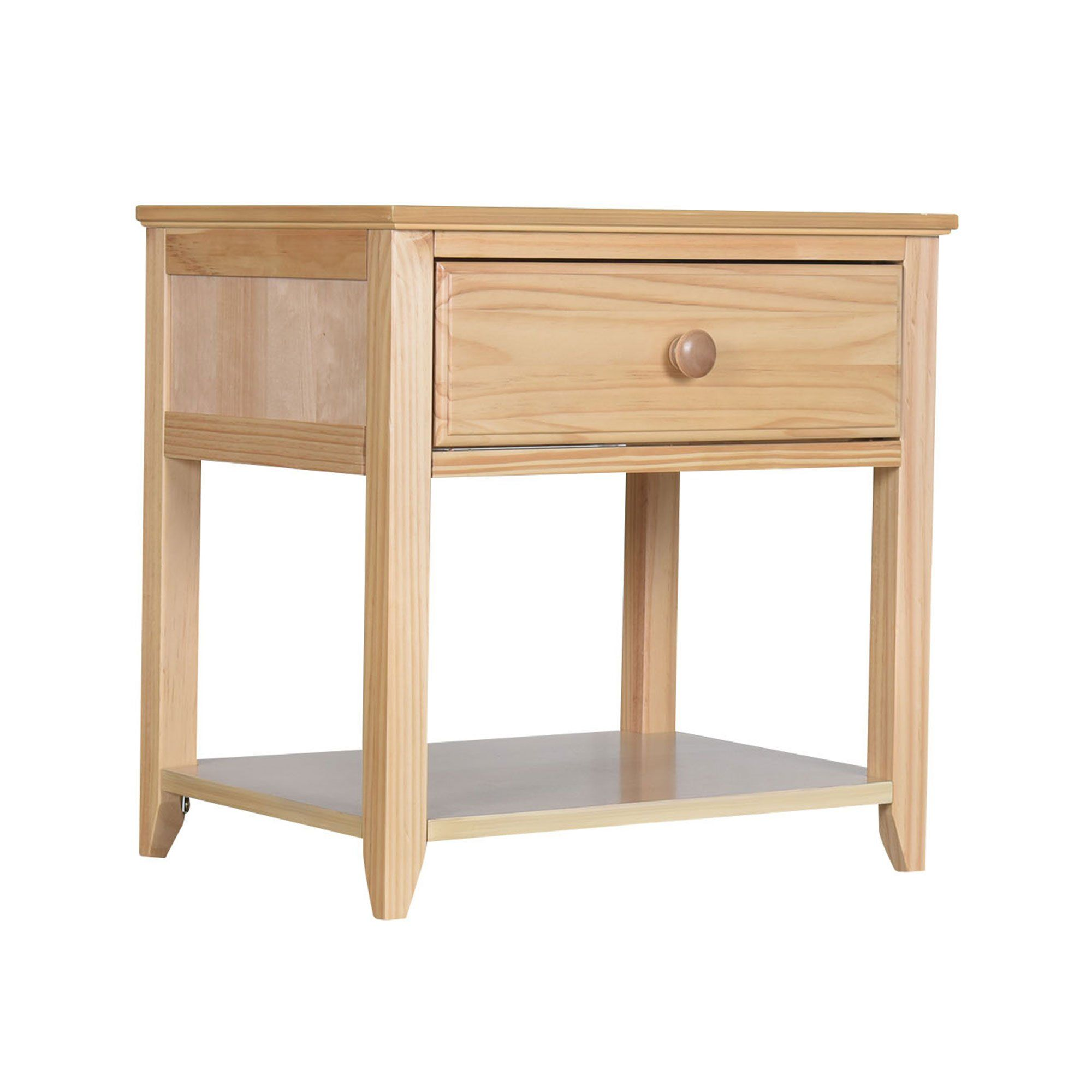 Max Lily Solid Wood Nightstand Natural Wood Nightstand