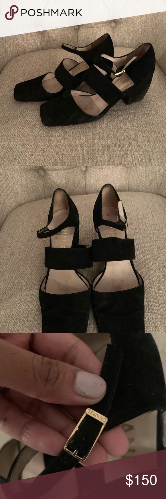 Chanel suede heels size 37 in 2020 Suede heels, Chanel