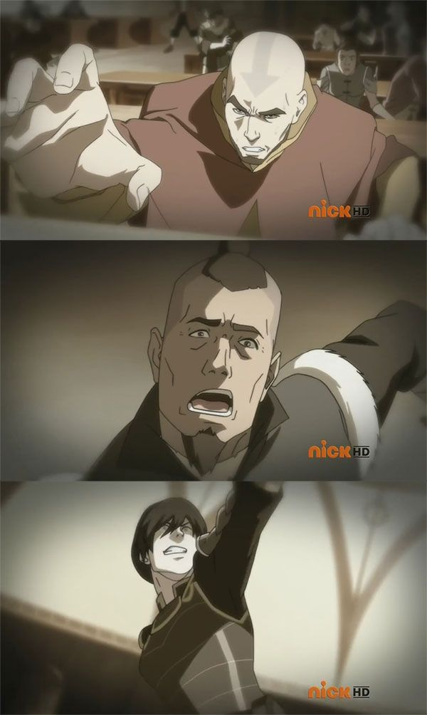 From The Legend Of Korra Aang Sokka And Toph Grown Up With