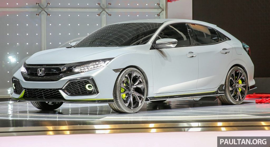 2016 Honda Civic hatchback showcased at GIIAS Honda