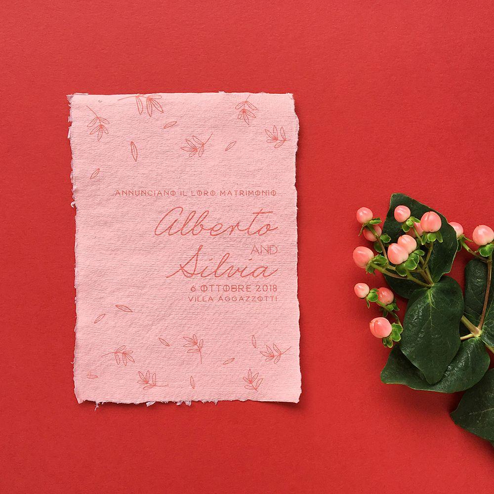 Wedding Experience Design _ invitation for alberto & silvia _ pink ...