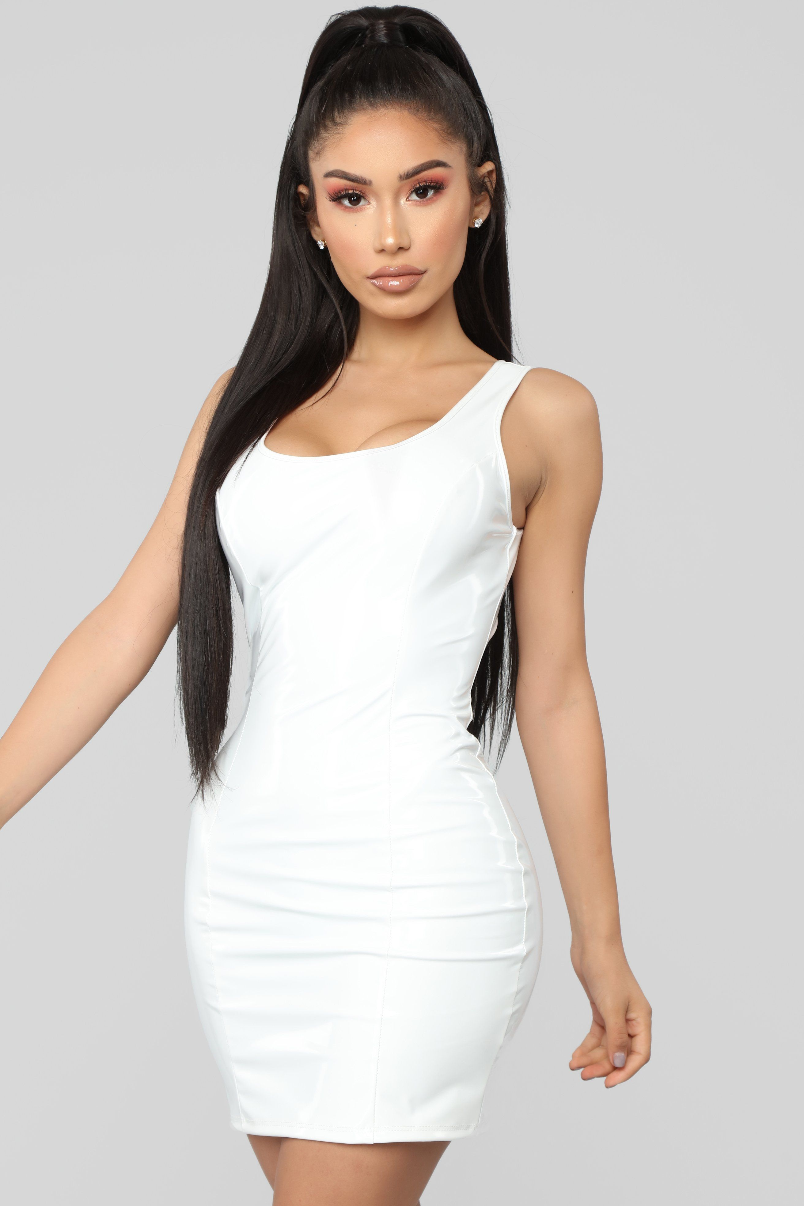 af5fc83f4ce Can t Stop Me Latex Dress - Ivory