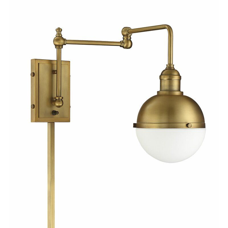 Gillenwater 1 Light Swing Arm Lamp Sconces Swing Arm Lamp Wall
