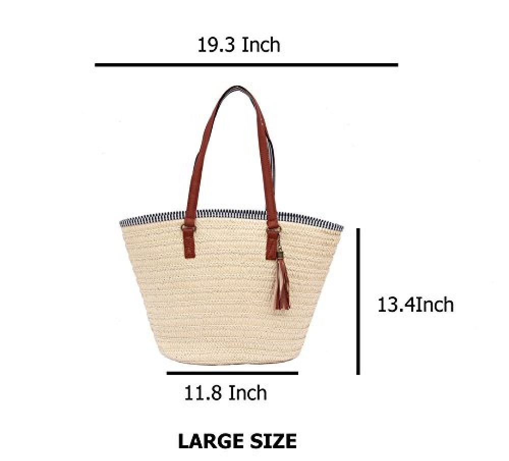 cdd33c6a1bd8 Sornean Summer Straw Beach Bag Handbags Shoulder Bag Tote