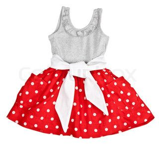 6da025f9c27d Image of  Red baby dress in polka dots on a white background