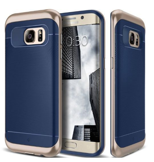 new product da2aa ae71a Samsung Galaxy S7 Edge Case Hybrid Luxury Slim Fit Pattern Grip ...