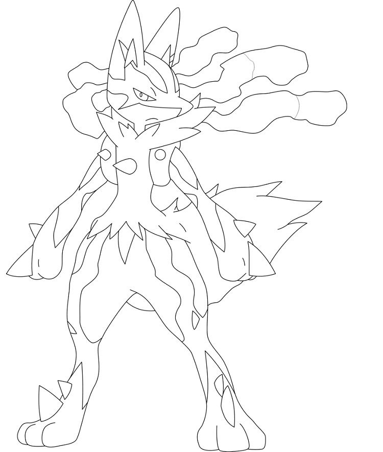 pokemon coloring pages lucario # 42