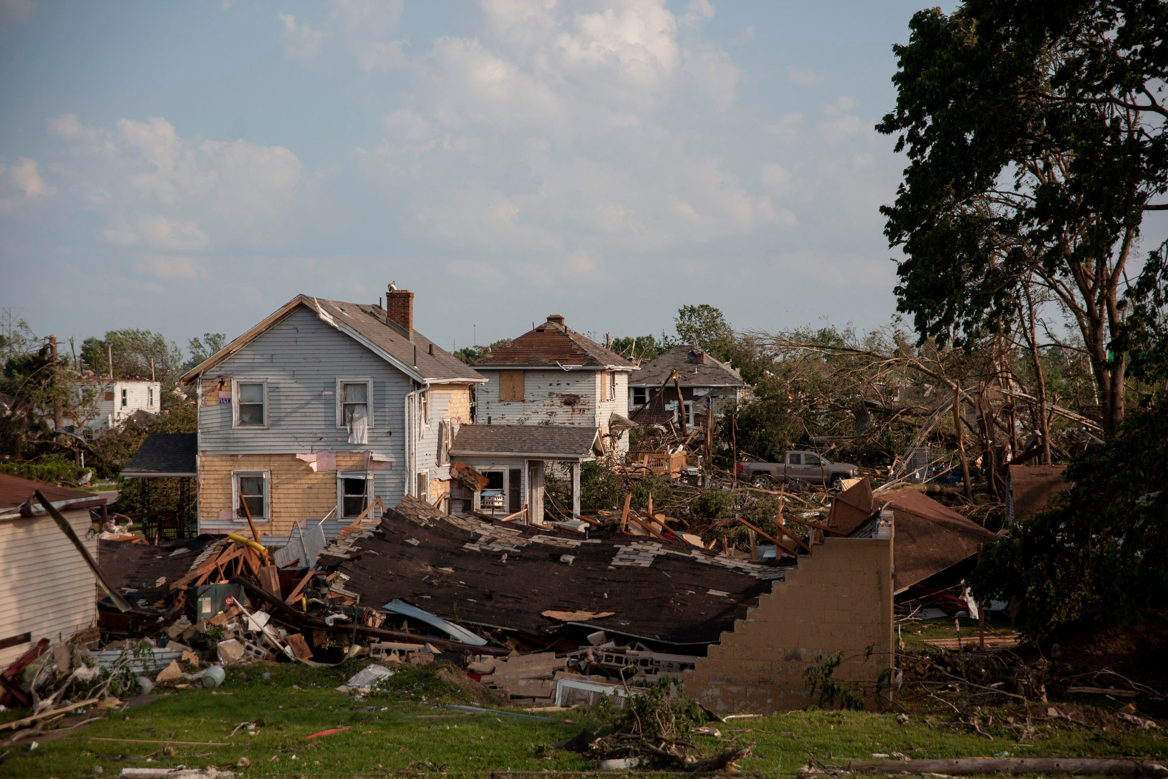 After the tornado storm damage in the US in pictures
