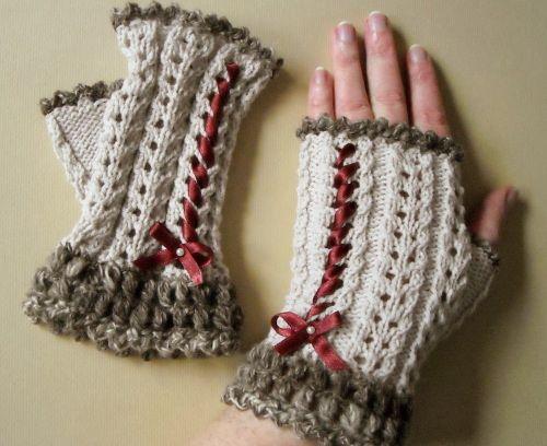 Fingerlose Handschuhe - | - Knitting - | Pinterest | Handschuh ...
