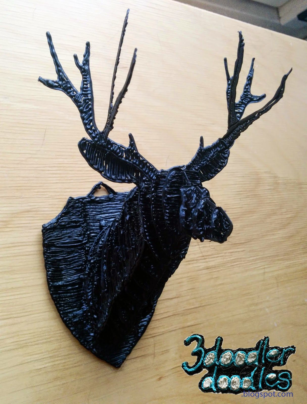projects ideas dear head. 3Doodler doodles  Just another deer on the wall 3 D Printing Art