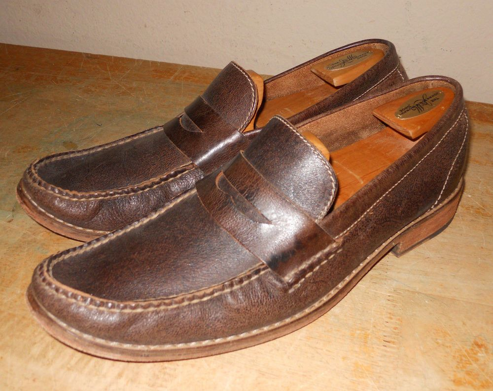 Mens Cole Haan brown leather mens loafer slip on shoes sz 11.5M
