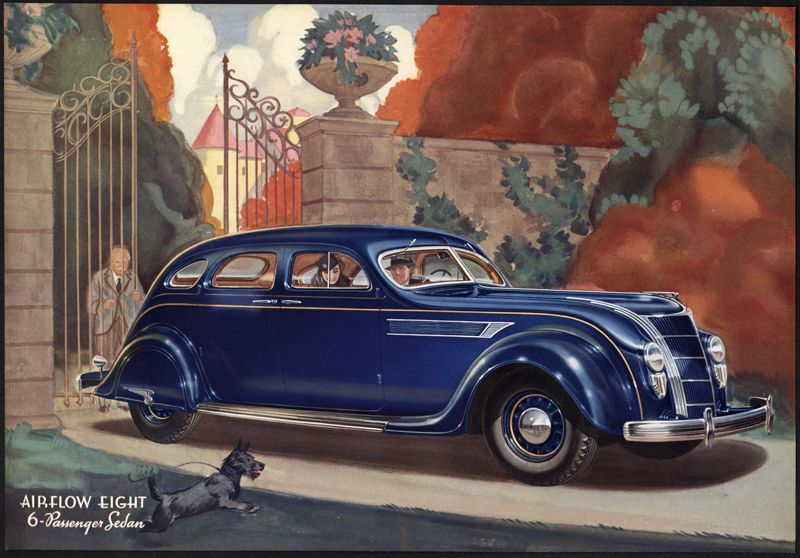 Portfolio Plate Airflow Chryslers C 1935 Published By Chr