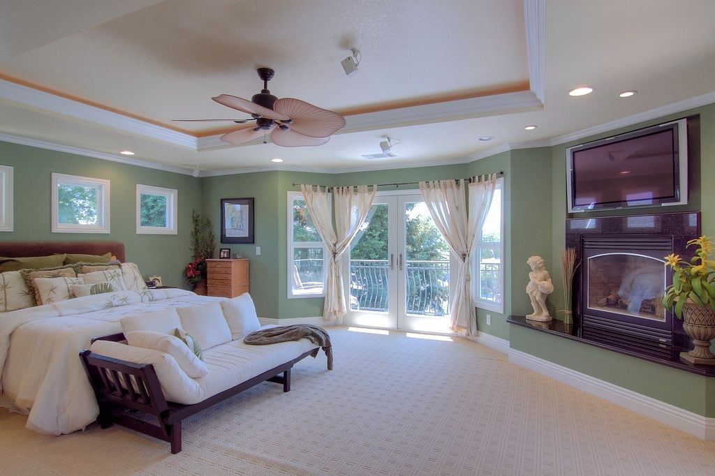 Found on zillow.com (Modern Master Bedroom with Crown molding ...