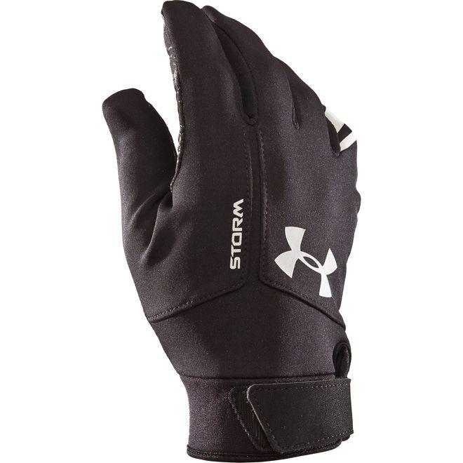 Under Armour Storm Men's Winter #Gloves - Black/Red-S/M'   Mens winter  running gear, Winter running gear, Under armour