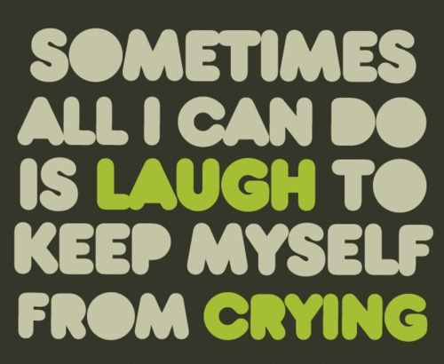 Sometimes All I Can Do Is Laugh To Keep Myself From Crying Nothing