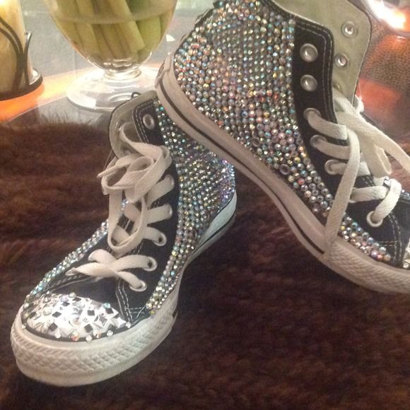 Bling sneakers Bling out sneakers Converse Shoes Sneakers