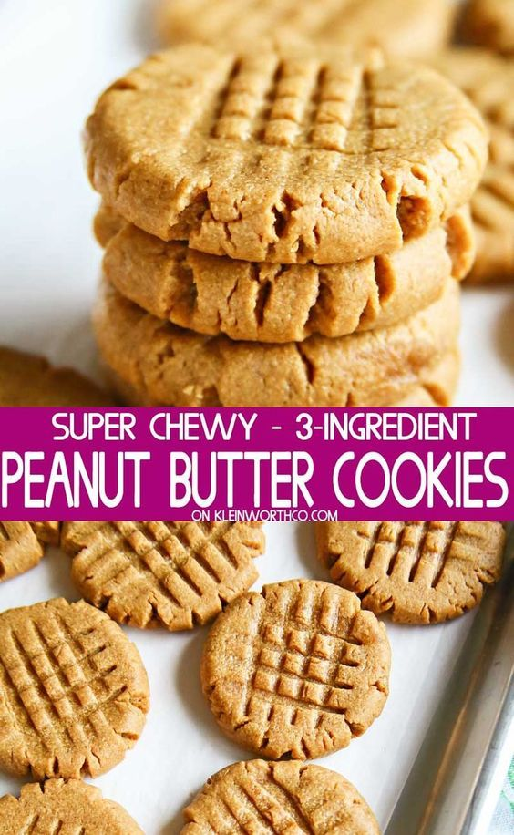 Making peanut butter cookies doesnt get any easier than these 3Ingredient Peanut Butter Cookies that are so soft  chewy You better make a double batch