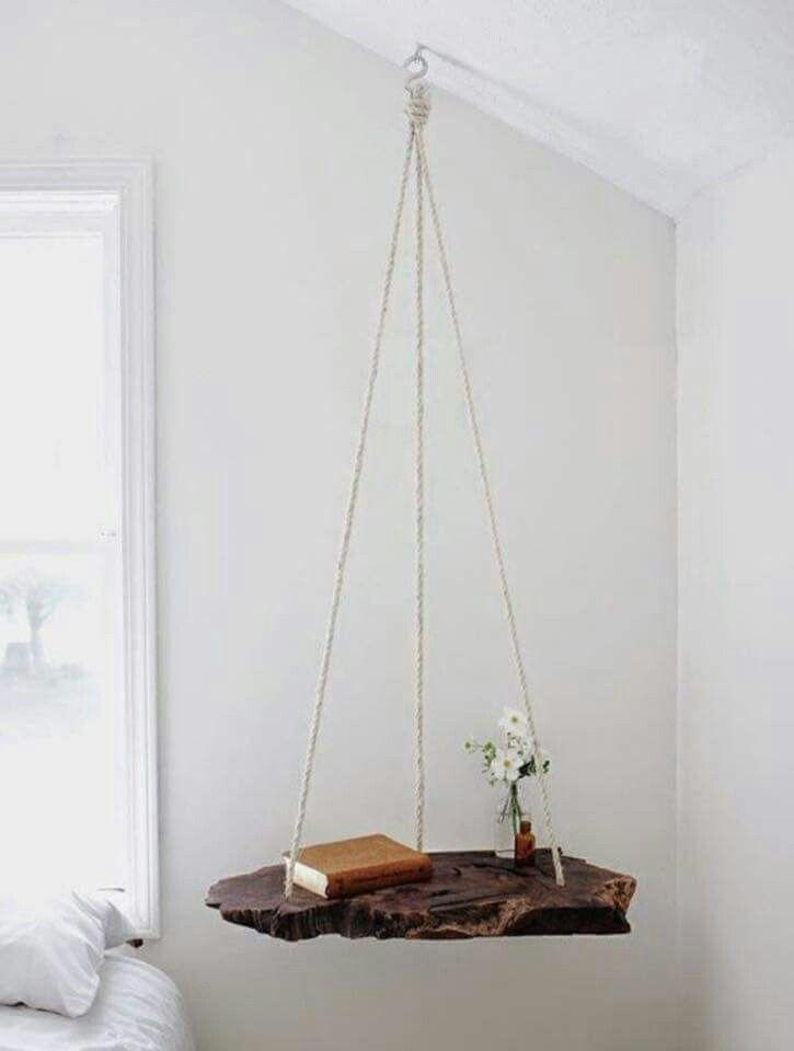 Nachttisch Hängend Holz