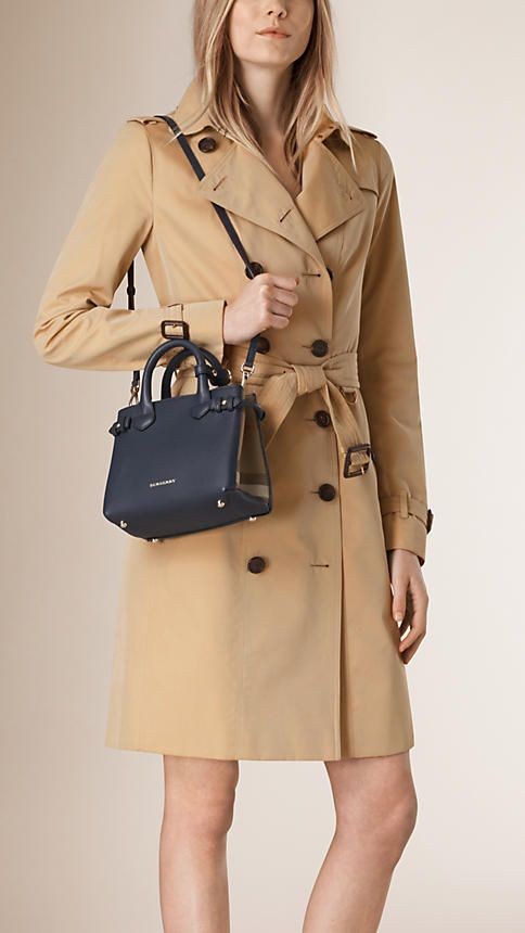 The Baby Banner In Leather And House Check Burberry Bag Outfit Trench Coats Women Burberry Bag