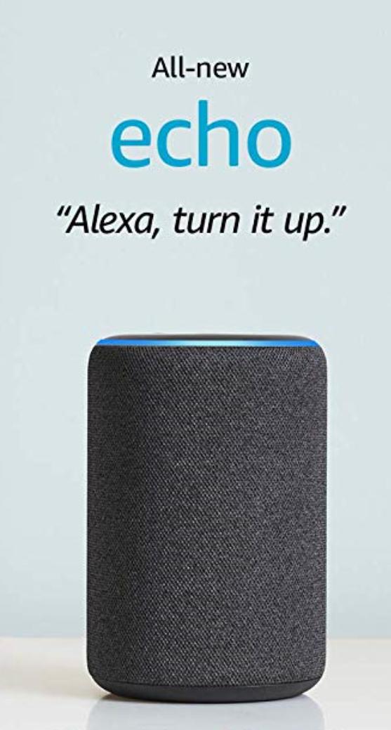 allnew echo (3rd gen) smart speaker with alexa charcoal