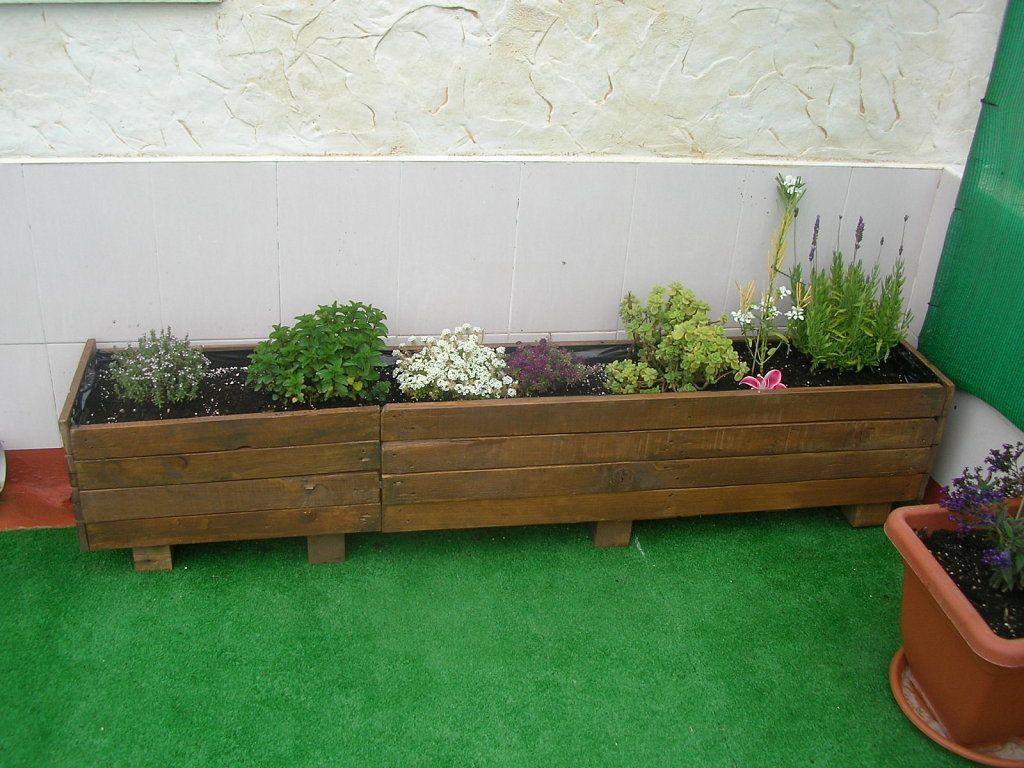 jardineras de palets buscar con google - Jardineras Con Palets
