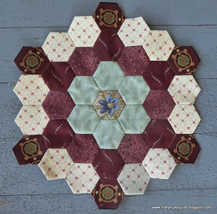 1000+ images about hexagonos on Pinterest | Hexagon quilt, English ...