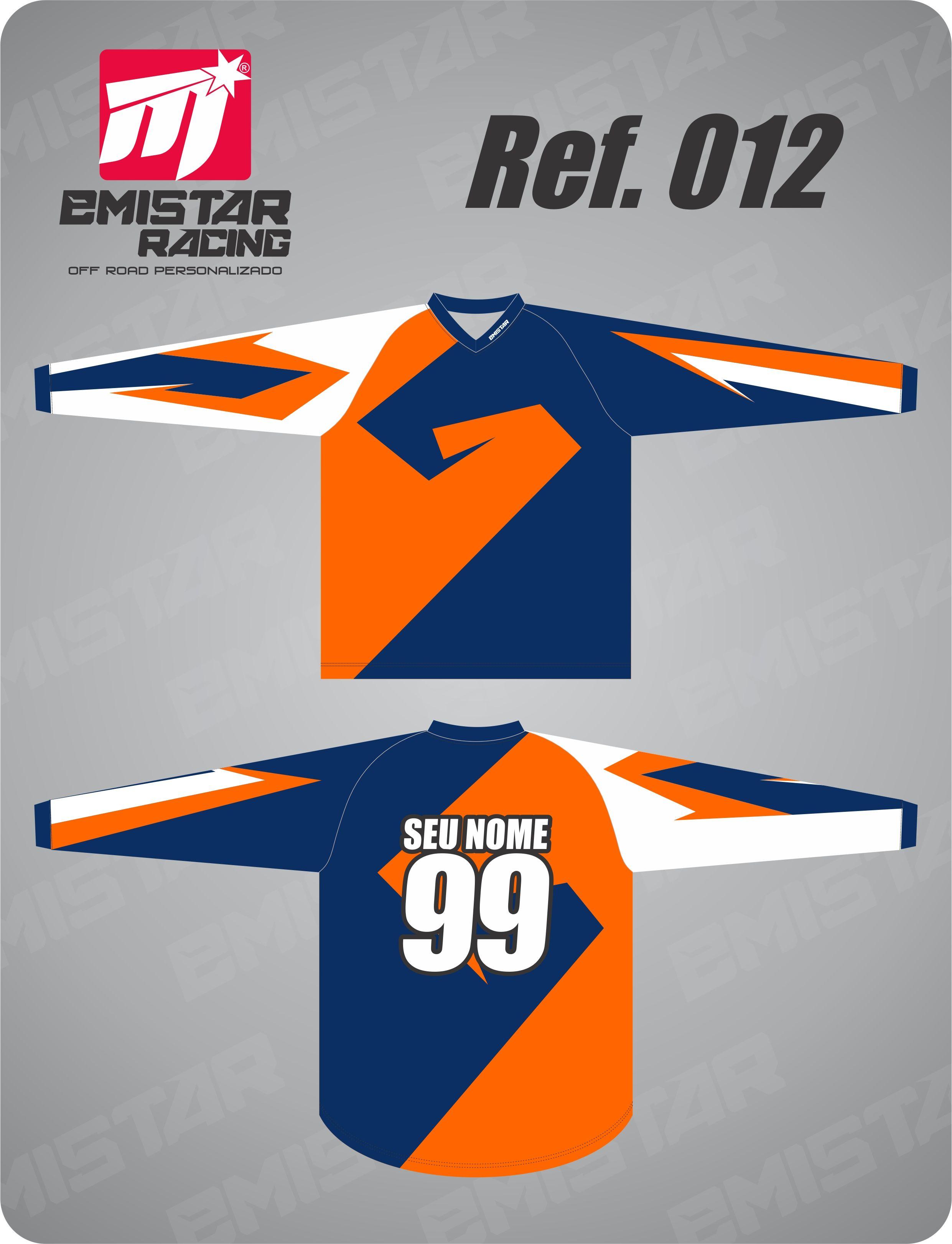 124cba3f69 Camisa personalizada com nome e número para trilha