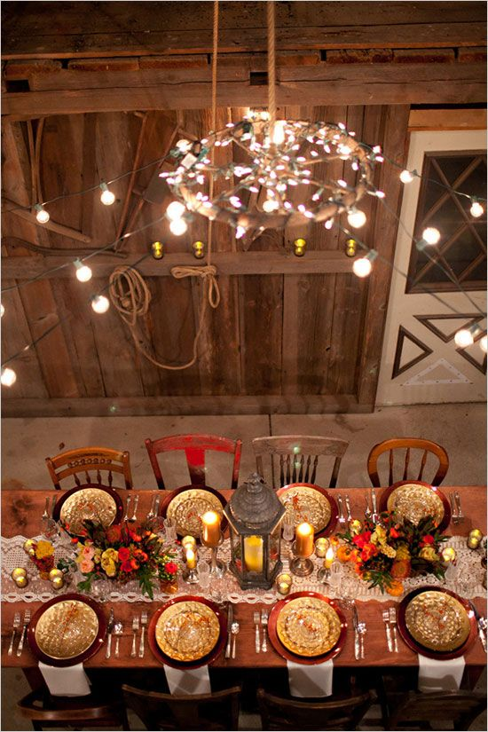 Autumn Table Setting Ideas create an autumn inspired color palette of rich warm hues Autumn