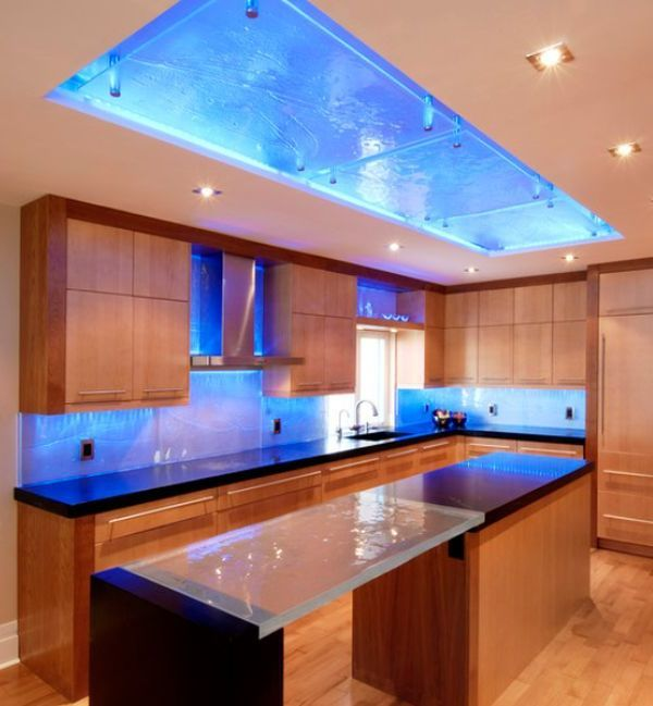 6 Interior Lighting Designs Use To Create An Ambience: Glass Kitchen, Kitchen Design