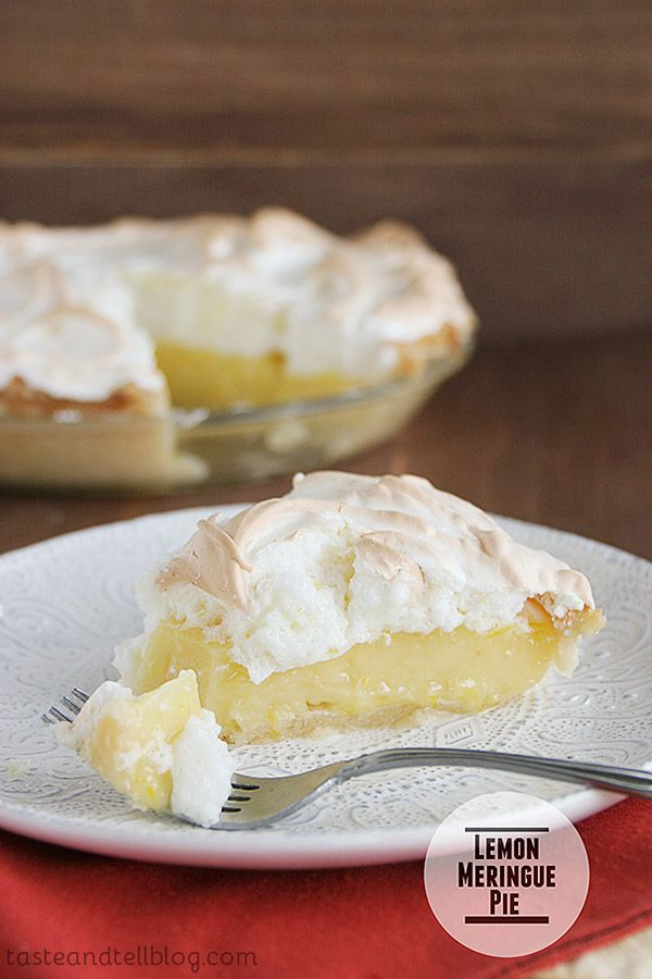 A classic – you can't go wrong with this lemon meringue pie!