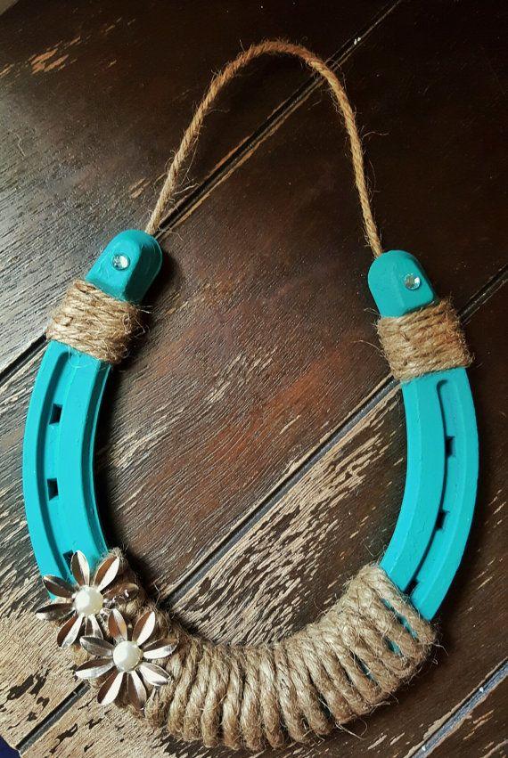 Large Turquoise Horse Shoe By Jaksvintagethings On Etsy Craft