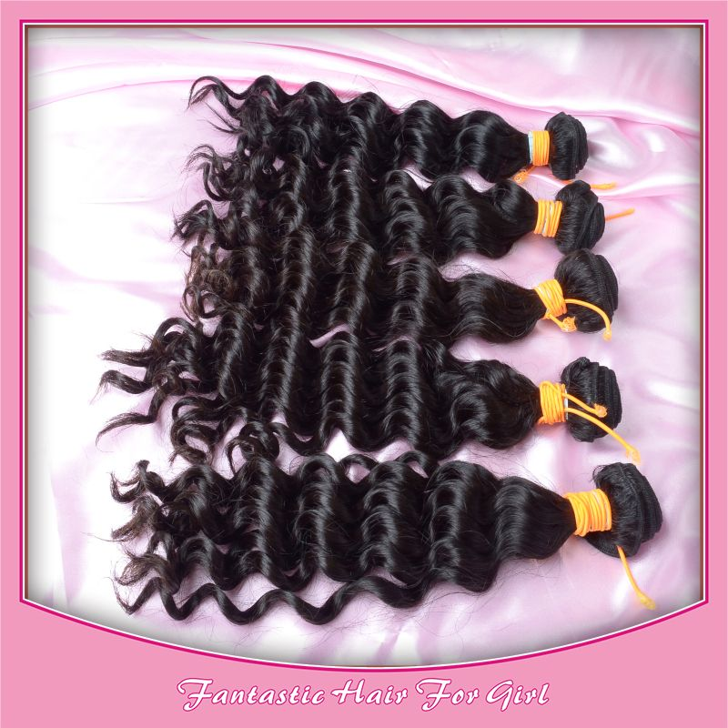 Guangzhou 100 Cheap Brazilian Hair Deep Wave Mixed Length