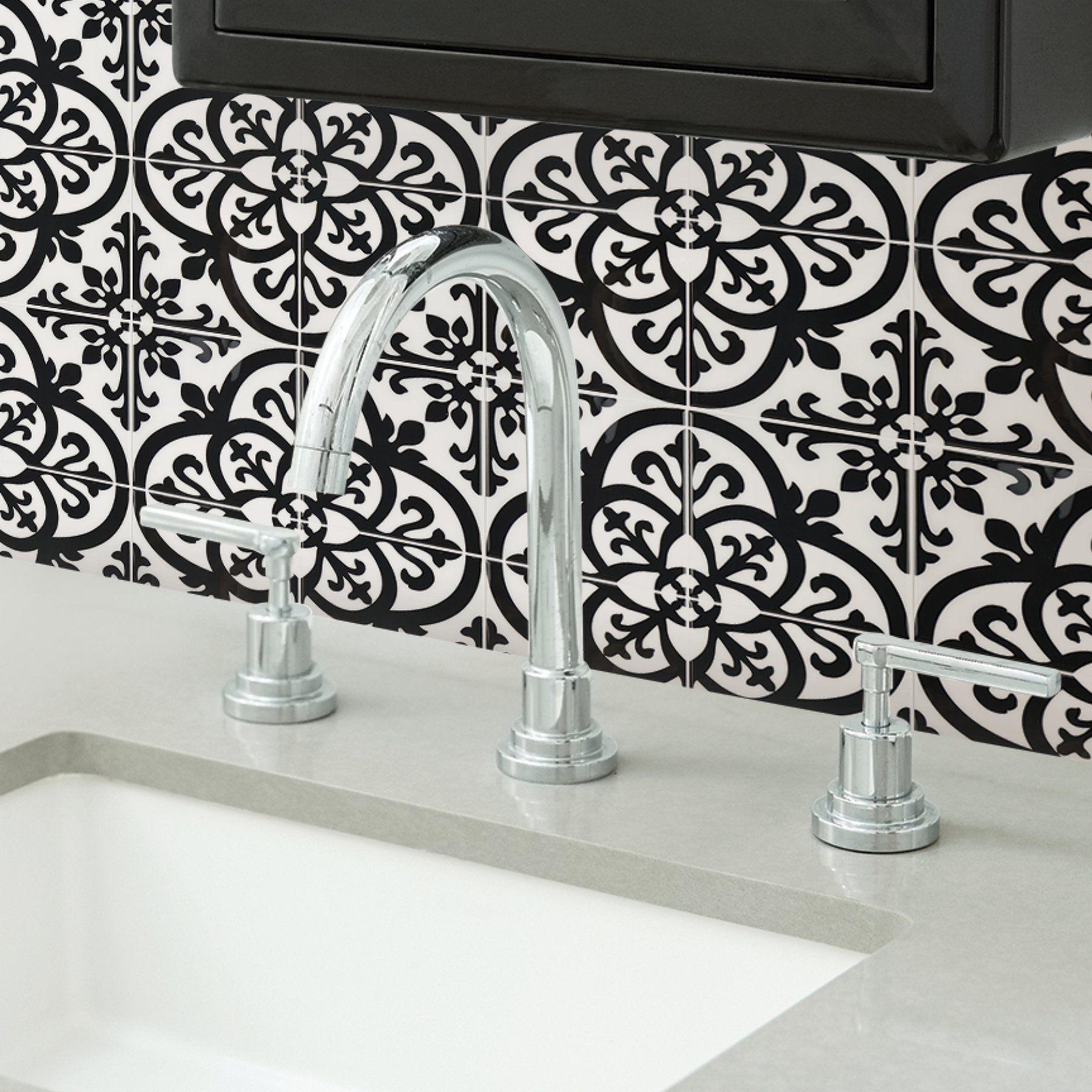 Inhome Avignon 10 In X 10 In Peel And Stick Resin Backsplash Tiles 4 Pack Walmart Com In 2021 Self Adhesive Backsplash Self Adhesive Backsplash Tiles Tile Backsplash