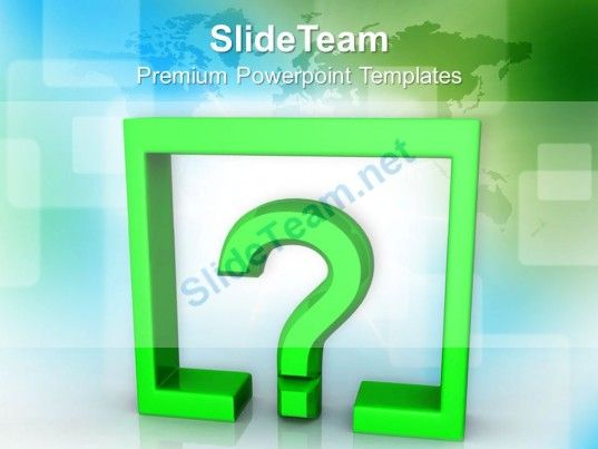 Question Mark Under Rectangle Finance Powerpoint Templates Ppt