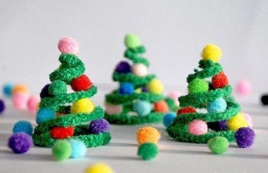 Basteln mit Pfeifenputzer - 60 kunterbunte Ideen für eine Menge Bastelspaß #weihnachtsdekobasteln