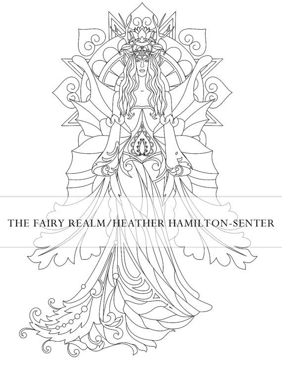 Fae Coloring Page Fairy Art Instant Download by OpheliaWeeping ...